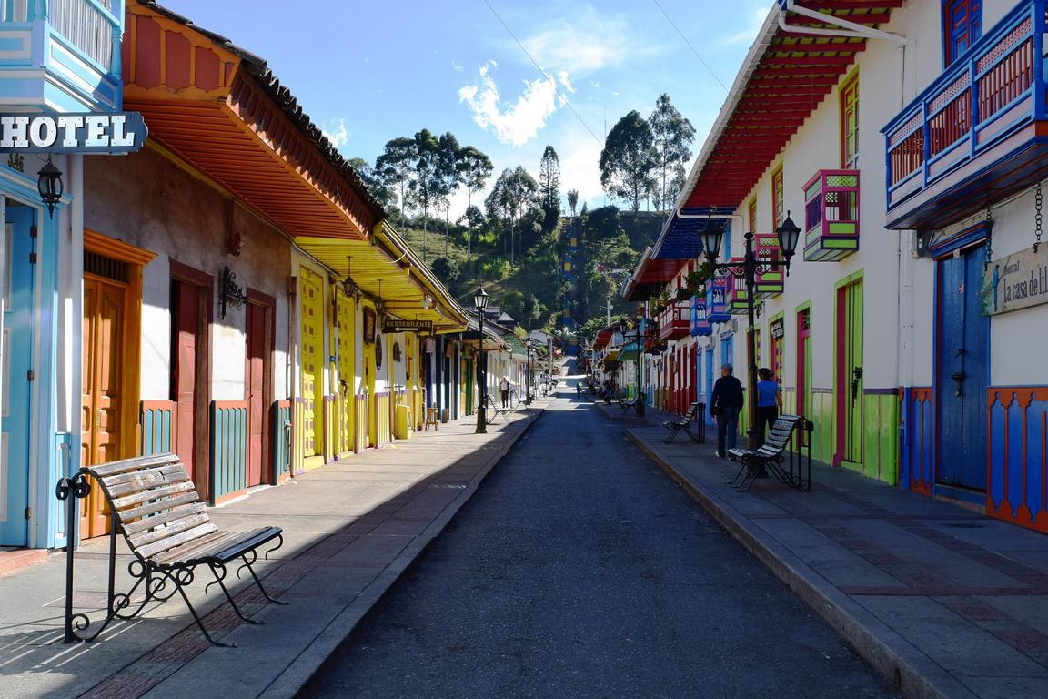 Kolumbianischer Strassenzug